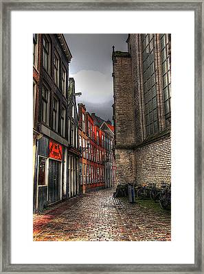 Amsterdam Red Light Framed Print
