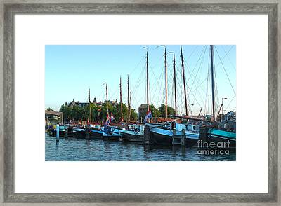 Amsterdam Sailing Ship - 06 Framed Print by Gregory Dyer