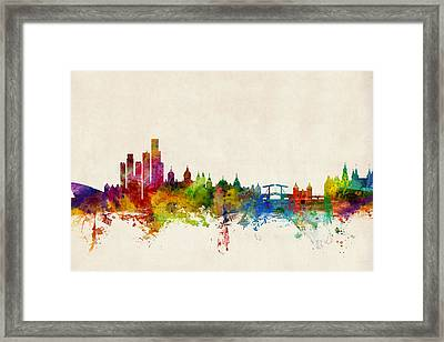 Amsterdam The Netherlands Skyline Framed Print by Michael Tompsett