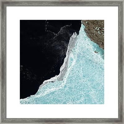 Amundsen Gulf Sea Ice Coverage Framed Print by Nasa