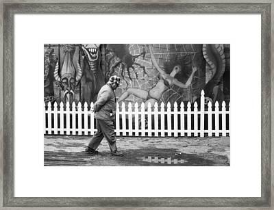 Amusement Park Asbury Nj Framed Print by Janet DeMatteis