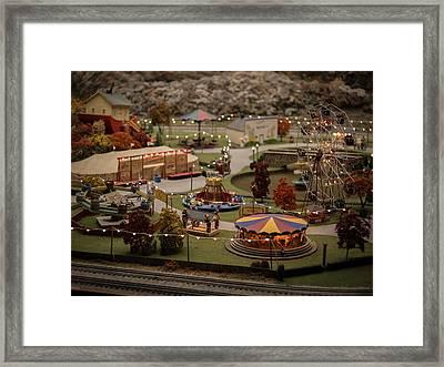 Amusement Park Framed Print by Carl Engman