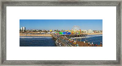 Amusement Park, Santa Monica Pier Framed Print