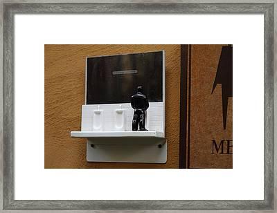 Amusing Sign - Piazza Palio - Khaoyai Thailand - 01132 Framed Print by DC Photographer