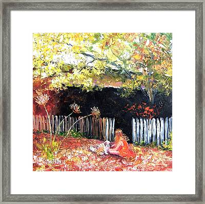 Amy And Milo Framed Print by Jan Matson