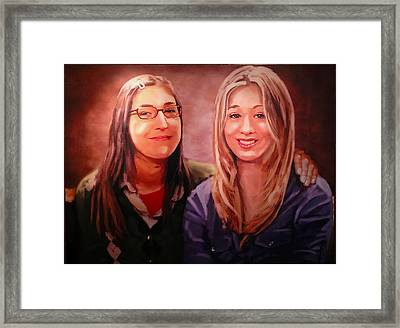 Amy And Penny Framed Print