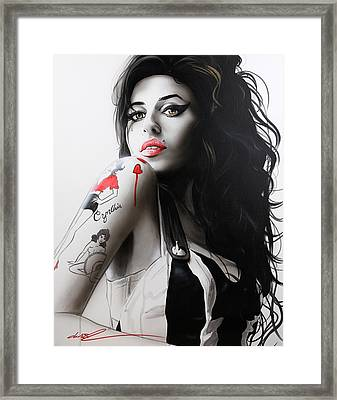 Amy Winehouse - ' Amy ' Framed Print by Christian Chapman Art