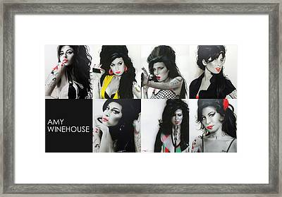 Amy Winehouse - ' Amy Eternal ' Framed Print by Christian Chapman Art