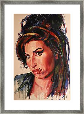 Amy Framed Print by Tachi Pintor