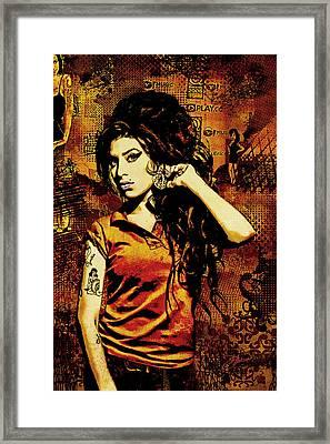 Amy Winehouse 24x36 Mm Reg Framed Print