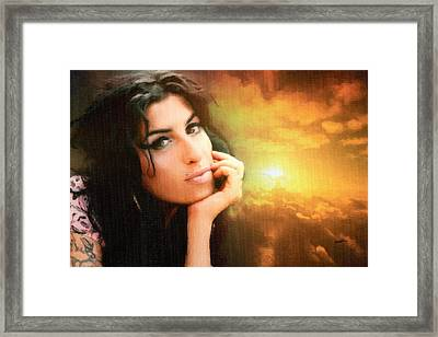 Amy Winehouse Framed Print by Anthony Caruso
