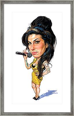 Amy Winehouse Framed Print by Art