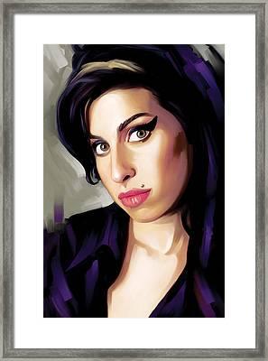 Amy Winehouse Artwork 1 Framed Print by Sheraz A
