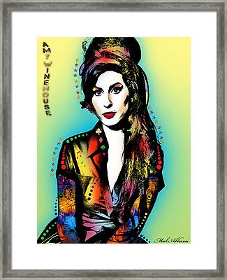 Amy Winehouse Framed Print by Mark Ashkenazi