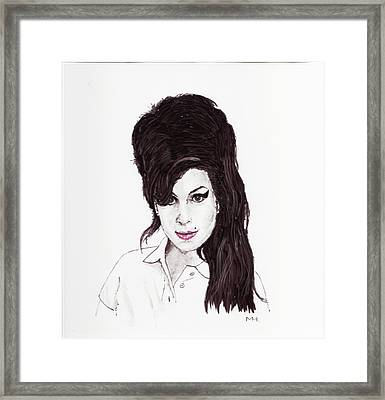 Amy Winehouse Framed Print by Martin Howard