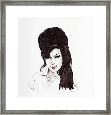 Amy Winehouse Framed Print by Martin Howard