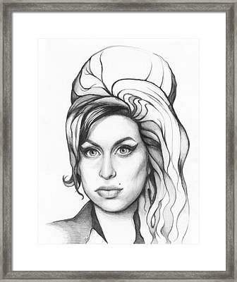 Amy Winehouse Framed Print by Olga Shvartsur
