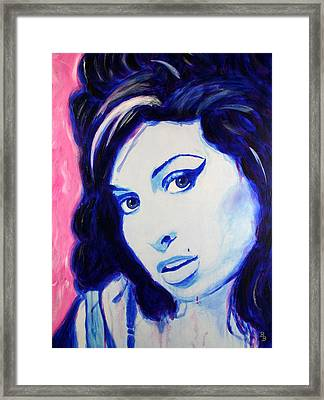 Amy Winehouse Pop Art Painting Framed Print by Bob Baker