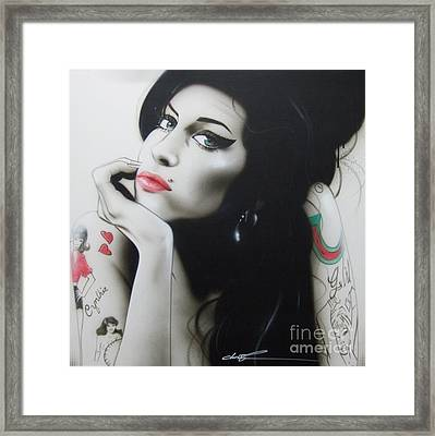 Amy Winehouse - ' Amy Your Music Will Echo Forever ' Framed Print