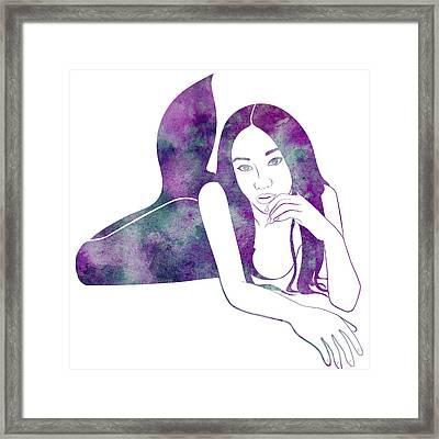 Amythest Mermaid Framed Print