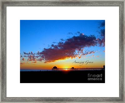 Framed Print featuring the photograph Amzing Grace 7 by Margie Amberge