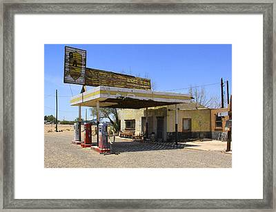 An Abandon Gas Station On Route 66 Framed Print by Mike McGlothlen