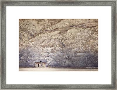 An Abandoned Farmhouse At The Base Framed Print by Roberta Murray