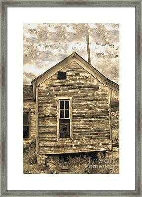 An Abandoned Old Shack Framed Print by Gregory Dyer