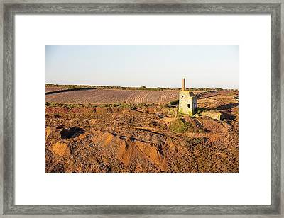 An Abandoned Tin Mine In Porthtowan Framed Print
