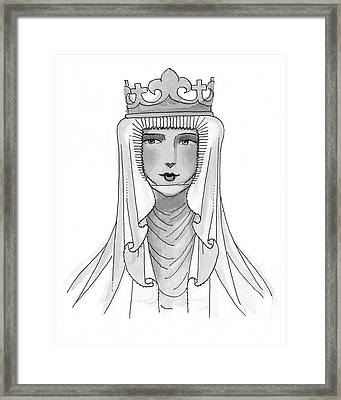 An Abbess Modeling A Historical Costume Framed Print