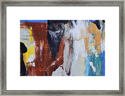 Framed Print featuring the painting An Abstract Sort Of Weekend by Heidi Smith