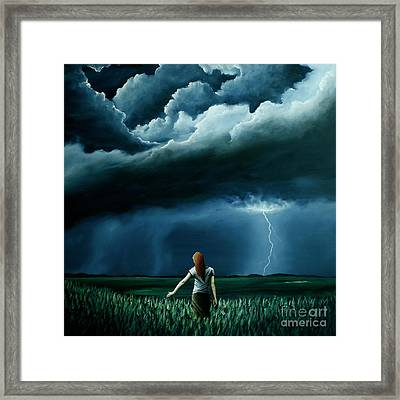 Framed Print featuring the painting An Act Of Love Between Heaven And Earth by Ric Nagualero