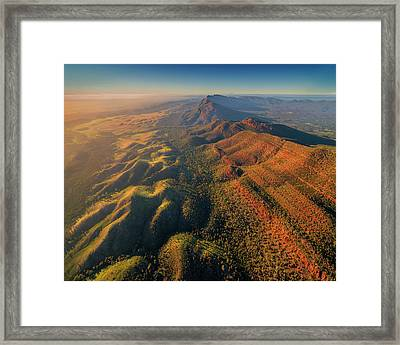 An Aerial View Of The Southern Flinders Framed Print by Southern Lightscapes-australia