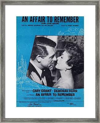 An Affair To Remember Framed Print by Mel Thompson