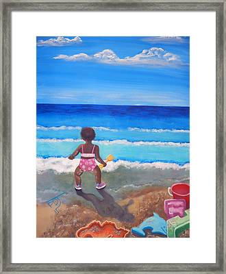 An Affinity For The Deep Framed Print by Pamorama Jones