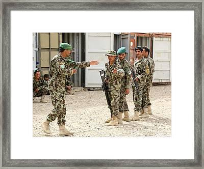 An Afghan National Army Instructor Framed Print
