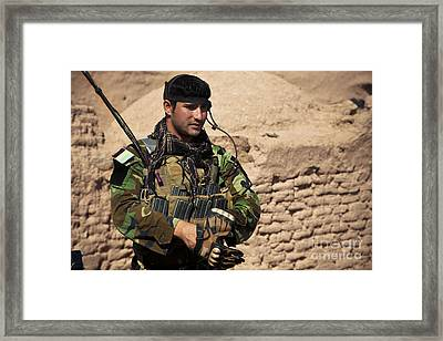 An Afghan National Army Special Forces Framed Print