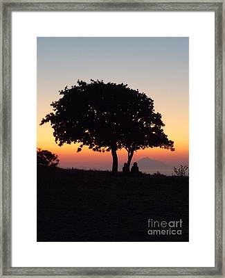 Framed Print featuring the photograph An African Sunset by Vicki Spindler