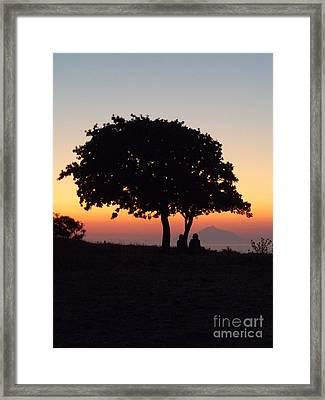 An African Sunset Framed Print by Vicki Spindler