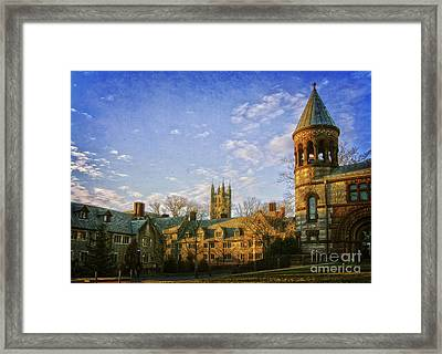 An Afternoon At Princeton Framed Print by Debra Fedchin