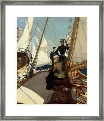 An Afternoon At Sea  Framed Print by Albert Lynch