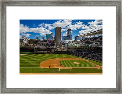 An Afternoon At Target Field Framed Print