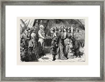 An Afternoon Party On Board H.m.s Framed Print by English School