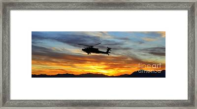 An Ah-64 Apache Framed Print by Paul Fearn
