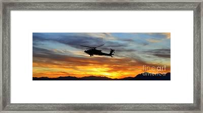 An Ah-64 Apache Framed Print by Paul Fearn