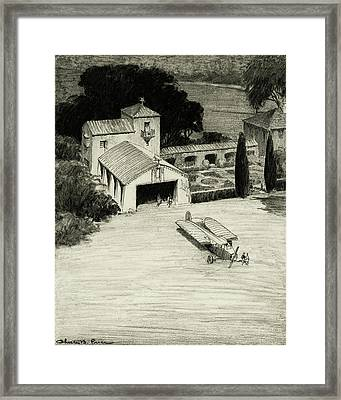 An Airplane Hangar Framed Print by Chester B. Price