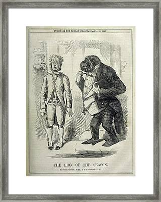 An Alarmed Flunkey Introduces  Mr Framed Print by Mary Evans Picture Library