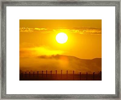 An Alberta Sunrise Framed Print