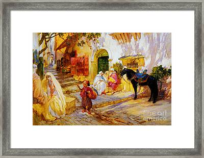 An Algerian Street  Framed Print by Celestial Images