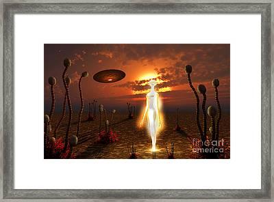 An Alien Light Being Framed Print by Mark Stevenson